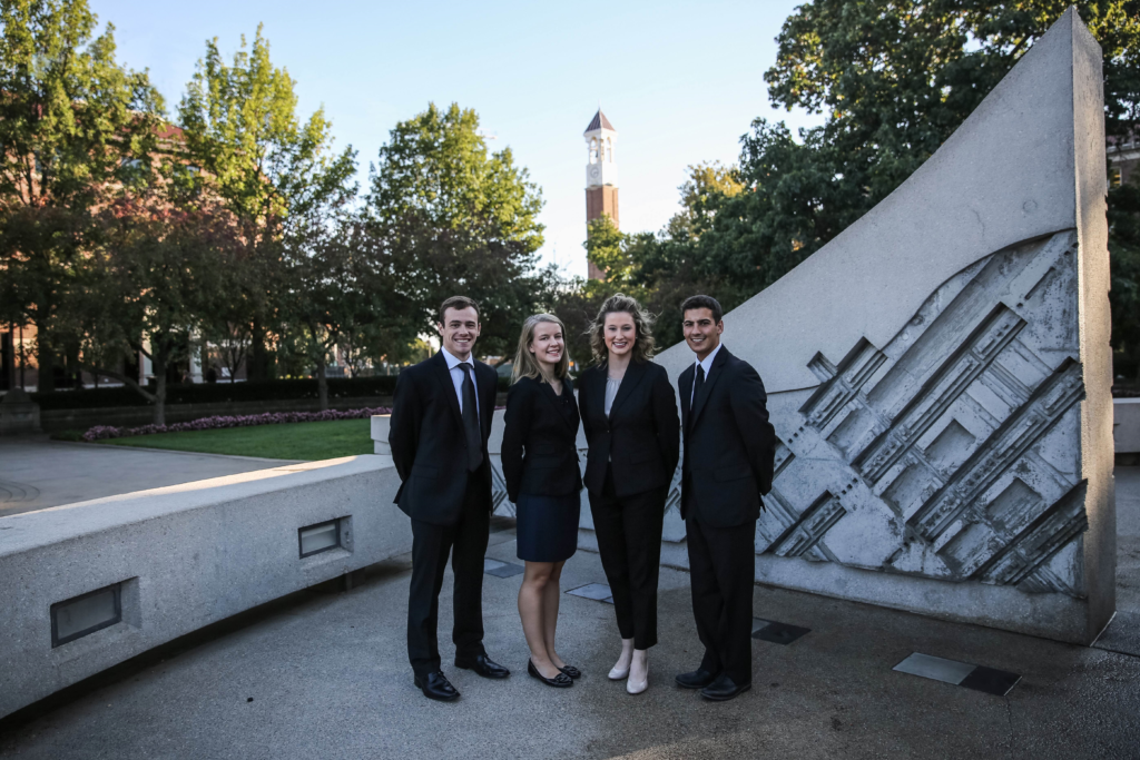 The Founding Members of the Rising Professionals Program, from left to right: Trevor Lear, Jennifer Reagin, Savannah Steinke, and Tom Palcheck.